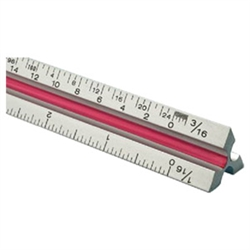 "Alvin 24"" Solid Aluminum Engineer Triangular Scale"