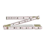 Keson 6' Engineer's Wooden Folding Ruler - Inches/Tenths