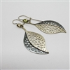 Leaf  Earrings made of sterling silver and beryl.