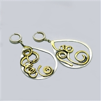 handmade sterling silver and bronze earrings
