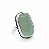 handmade silver ring with acquamarine