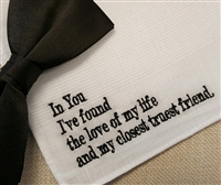 For the Groom Hankie