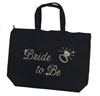 B2B Black Canvas Tote