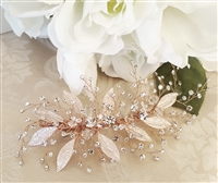 Rose Gold and Crystal Hair Clip