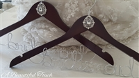 Bridal Party Hangers with Crystal