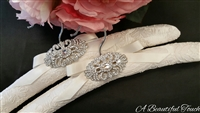 Alencon Lace with Beautiful Crystal Brooch - Sold Out!