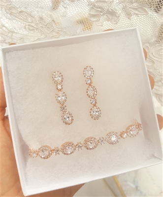 Three Tier Earrings and Bracelet