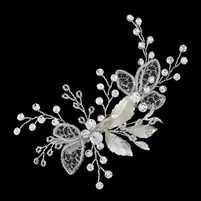 Delicate Crystal and Mesh Hair Clip