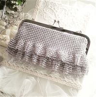 Crystal Purse with Ruffles - SOLD OUT