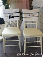 Mr. and Mrs. Whimsical Chair Cover Rentals