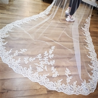 "130"" Lace Cathedral Veil"