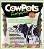 COW POTS 100% BIODEGRADABLE POT 5 INCH ROUND,EACH