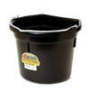 MILLER P22FBBLACK FLAT BACKED PLASTIC BUCKET, 22 QUART, BLACK
