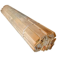 "WOOD LATH, CEDAR,  1-1/4"" WIDE X 3/8"" THICK BY 48"" LONG, 50/BUNDLE"
