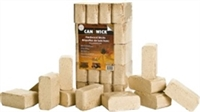 CANAWICK COMPRESSED 100% HARDWOOD WOOD FUEL BRICKS, 40LB PACKAGE, 20 BRICKS/PACKAGE