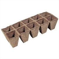 JIFFY PEAT STRIP 10 CELL TRAY, 2.25 INCH