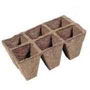 JIFFY PEAT STRIP, 8 CELL TRAY,  3 INCH