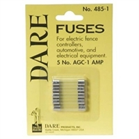 DARE 485-1 ELECTRIC FENCER FUSES 1AMP, 5/PK