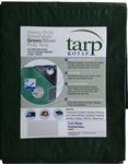 HEAVY DUTY TARP 10X20 GREEN/SILVER