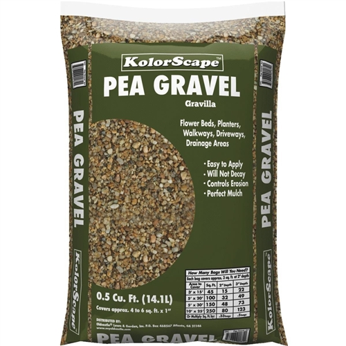 OLDCASTLE KOLORSCAPE 40200010 PEA GRAVEL .5 CF BAG