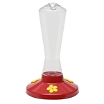 PERKY PET GARDEN SONG CLEAR PLASTIC HUMMINGBIRD FEEDER 8OZ
