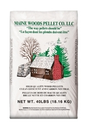 MAINE WOODS PREMIUM WOOD PELLETS HARDWOOD/SOFTWOOD BLEND, 8,200 BTUS,  40LB BAG