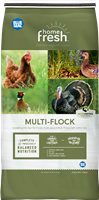 BLUE SEAL HOME FRESH MULTI FLOCK CHICK N GAME STARTER/GROWER PELLET 25LB