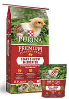 PURINA START AND GROW MEDICATED CHICK STARTER