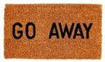 "FLOOR MAT COCOA FIBER ""GO AWAY"""