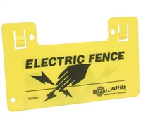 GALLAGHER G602404 ELECTRIC FENCE WARNING SIGN