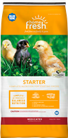 BLUE SEAL HOME FRESH CHICK STARTER MEDICATED MEAL 25LB