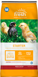BLUE SEAL HOME FRESH CHICK STARTER MEDICATED CRUMBLE 25LB