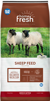 BLUE SEAL HOME FRESH 20 SHEEP STARTER/GROWER 45DQ MEDICATED PELLETED FEED 50LB BAG
