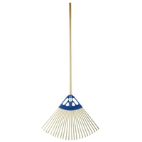 RUGG B2-24 POLY BAMBOO LEAF RAKE 24IN, 48 IN HANDLE