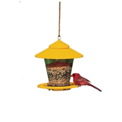 HERITAGE FARMS GRANARY STYLE BIRD FEEDER, 4LB CAPACITY, ASSORTED COLORS