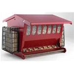 HERITAGE FARMS 7452R SEEDS N MORE  BIRD FEEDER, RED, 15 LB