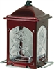 SCARLET ROSE BIRD FEEDER, RED, 5LB CAPACITY