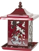 HUMMINGBIRD LANTERN BIRD FEEDER, RED, 5.5LB CAPACITY