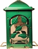 SUMMERS LEAVES BIRD FEEDER, GREEN, 5LB CAPACITY