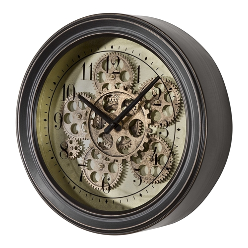 Lacrosse Bbb85289 Metal Clock With Working Gears 13 Inch