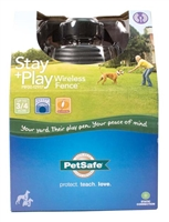 PETSAFE PIF00-12917 STAY & PLAY WIRELESS PET FENCE SYSTEM, 3/4 ACRE