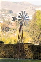 Alpine JUM264 Garden Metal Kinetic Windmill, 101 Inch Tall Multi-Color