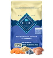 BLUE BUFFALO LIFE PROTECTION FORMULA ADULT DOG HEALTHY WEIGHT CHICKEN & BROWN RICE 6LB