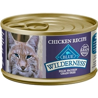 BLUE BUFFALO WILDERNESS CHICKEN RECIPE FOR ADULT CATS 3OZ - CASE OF 24