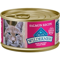 BLUE BUFFALO WILDERNESS SALMON RECIPE FOR ADULT CATS 3OZ - CASE OF 24