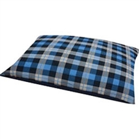PETMATE 80829 PROMO KNIFE EDGE RECTANGULAR PILLOW/DOG BED, 27X36X6 INCH, PLAID