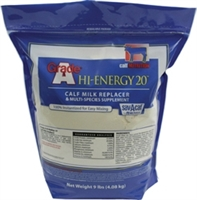 GRADE A HI ENERGY 20 MULTI SPECIES MILK REPLACER 9LB
