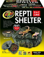 ZOOMED RC-30 REPTI SHELTER 3-IN-1 CAVE SMALL