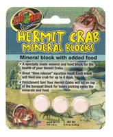 ZOOMED HC-62 HERMIT CRAB MINERAL BLOCKS WITH ADDED FOOD