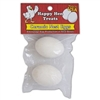 HAPPY HEN CERAMIC NEST EGGS 2PK WHITE